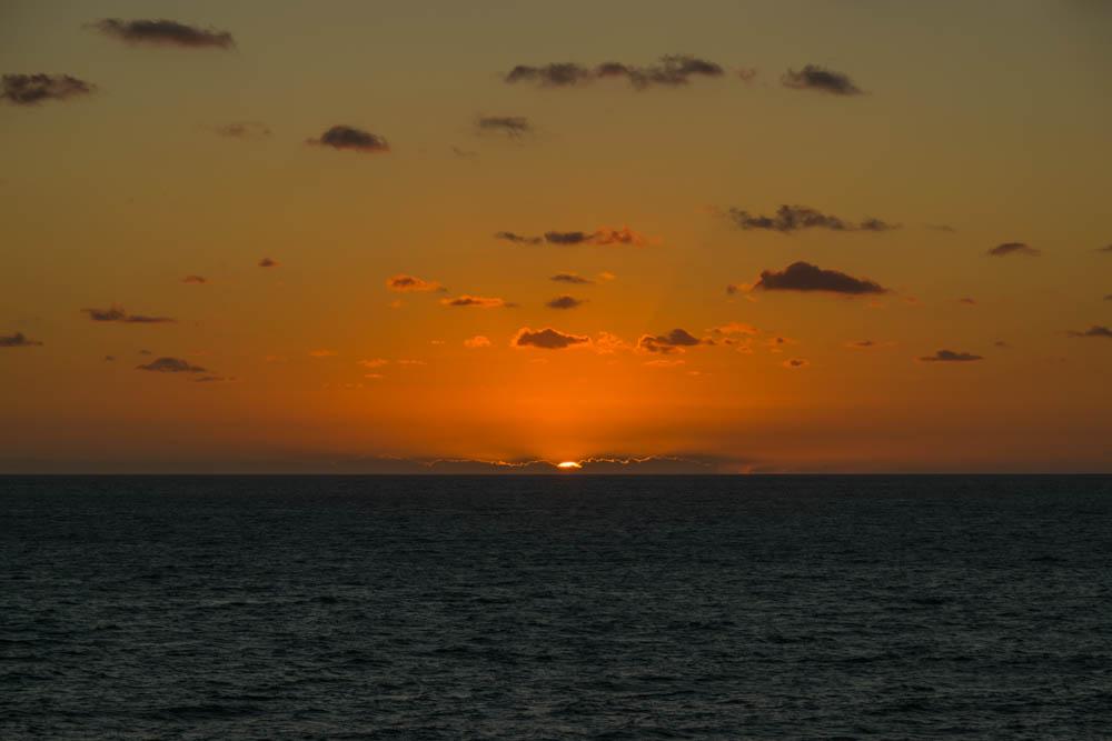 Sonnenaufgänge und Sonnenuntergänge auf der Rhapsody of the Seas