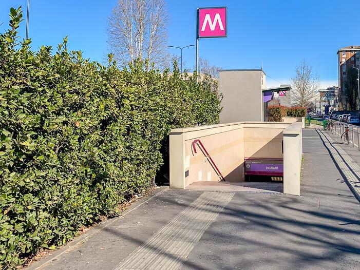 Metro fahren in Mailand - Bignami M5 in Milano ATM