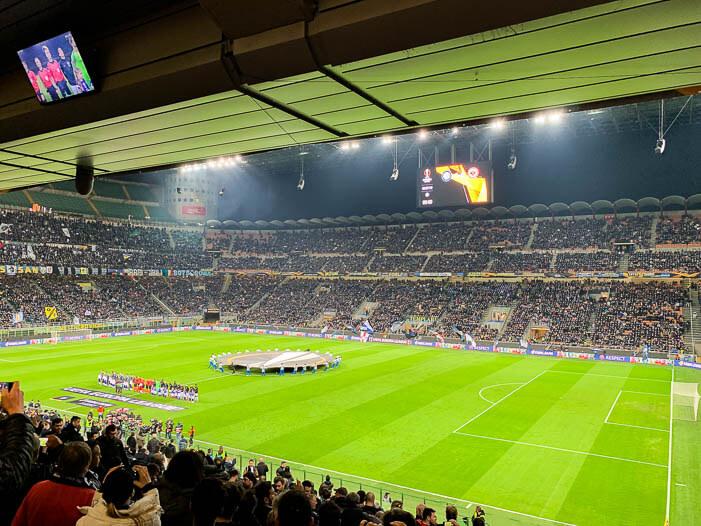 San Siro - Inter Mailand gegen Eintracht Frankfurt
