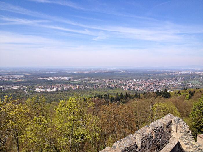 Aussicht auf Burg Frankenstein