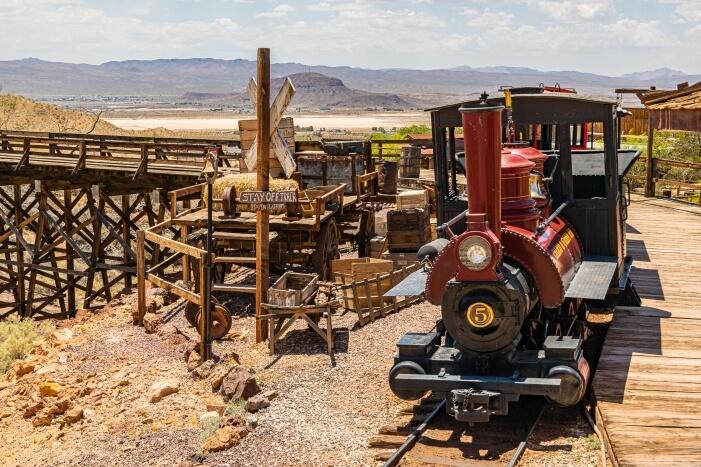 Calico Ghost Town: Eine Fahrt mit der Bahn