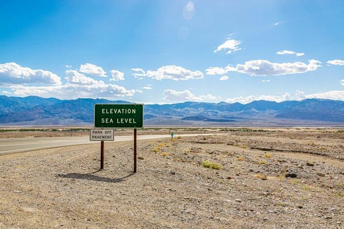 Elevation Sea Level Death Valley