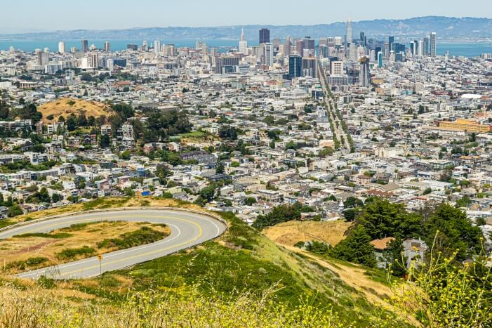 Aussichtspunkt auf San Francisco von den Twin Peaks