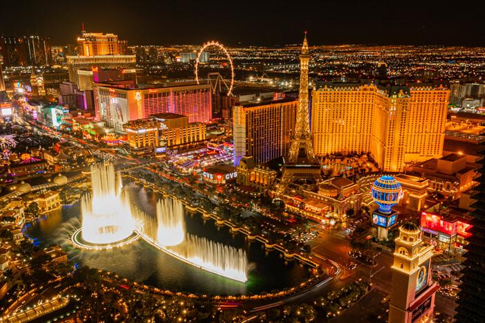 Ausblick vom The Cosmopolitan Hotel in Las Vegas