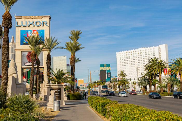 Auf dem Strip in Las Vegas